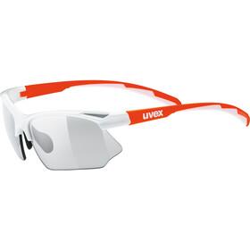 UVEX Sportstyle 802 V Okulary rowerowe, white orange/smoke